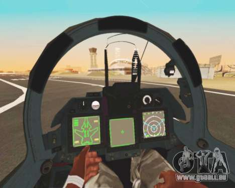Su-47 Berkut v1.0 pour GTA San Andreas vue de dessous