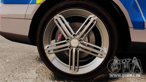 Audi Q7 Metropolitan Police [ELS] für GTA 4 Rückansicht