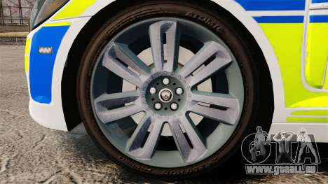 Jaguar XFR 2010 British Police [ELS] für GTA 4 Rückansicht