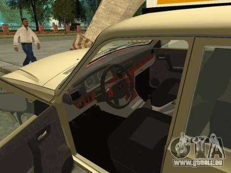 GAZ 31105 Volga Taxi für GTA San Andreas Rückansicht
