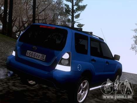 Subaru Forester 2.5XT 2005 pour GTA San Andreas sur la vue arrière gauche