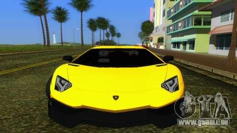 Lamborghini Aventador LP720-4 50th Anniversario pour une vue GTA Vice City de la gauche