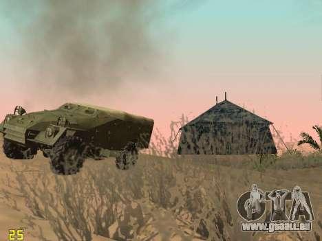 BTR-40 pour GTA San Andreas vue de dessous