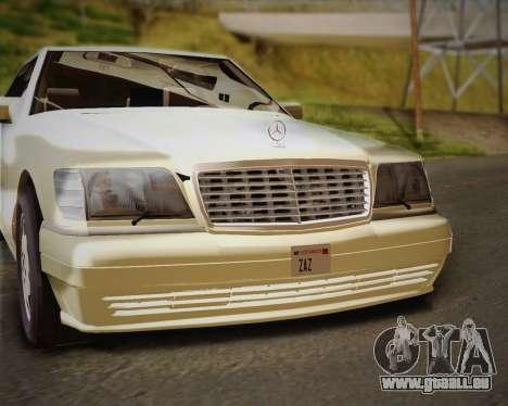 Mercedes-Benz S600 V12 Custom pour GTA San Andreas vue de dessus