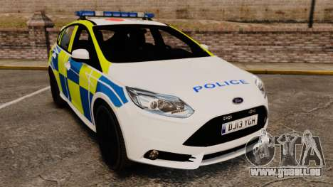Ford Focus 2013 Uk Police [ELS] pour GTA 4