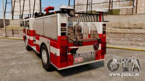 Feuerwehrauto für GTA 4 hinten links Ansicht
