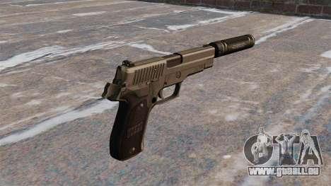 SIG-Sauer P226 pistolet avec silencieux pour GTA 4 secondes d'écran