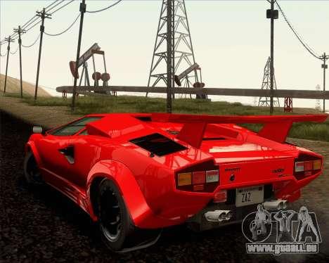 Lamborghini Countach LP500 Quattrovalvole 1988 für GTA San Andreas obere Ansicht