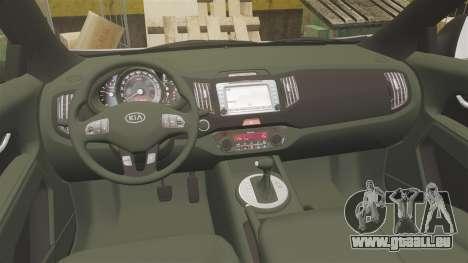 Kia Sportage Unmarked Police [ELS] pour GTA 4 Vue arrière