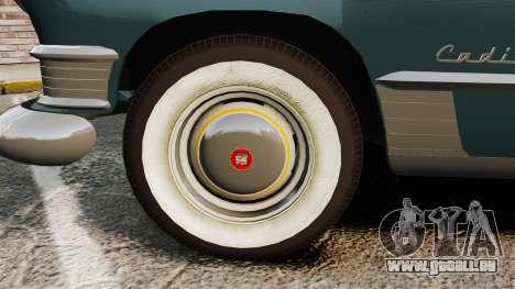 Cadillac Series 62 1949 pour GTA 4 Vue arrière