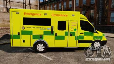 Mercedes-Benz Sprinter [ELS] London Ambulance für GTA 4 linke Ansicht