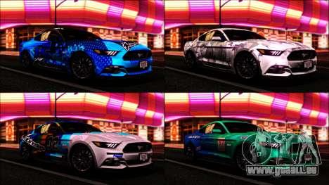 Ford Mustang GT 2015 v2 für GTA San Andreas rechten Ansicht