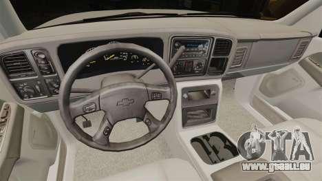 Chevrolet Suburban 2003 AMR [ELS] für GTA 4 Rückansicht