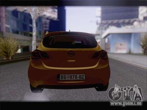 Opel Astra J 2011 pour GTA San Andreas vue arrière