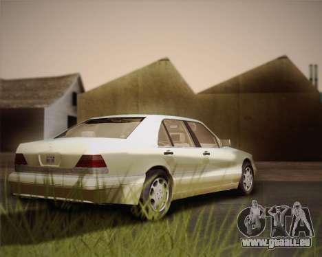 Mercedes-Benz S600 V12 Custom pour GTA San Andreas vue intérieure