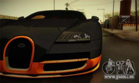 Bugatti Veyron Super Sport World Record Edition für GTA San Andreas rechten Ansicht