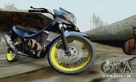Suzuki Satria FU 150cc 2011 Semi Drag für GTA San Andreas Innenansicht