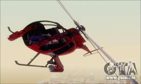 Bussard Angriff Hubschrauber von GTA 5 für GTA San Andreas linke Ansicht