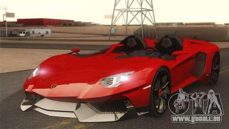 Lamborghini Aventador J 2012 v1.0 pour GTA San Andreas
