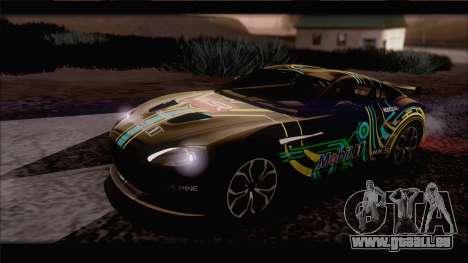 Aston Martin V12 Zagato 2012 [IVF] pour GTA San Andreas vue de dessus