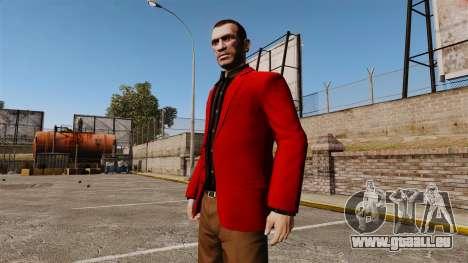 Veste rouge pour GTA 4 secondes d'écran