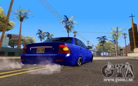 Lada Priora pour GTA San Andreas sur la vue arrière gauche