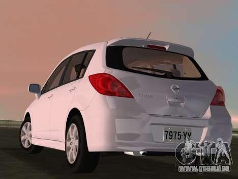 Nissan Tiida pour GTA Vice City vue latérale