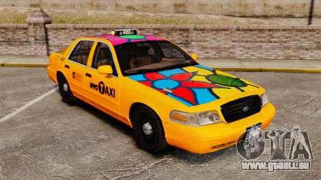 Ford Crown Victoria 1999 NYC Taxi für GTA 4 obere Ansicht
