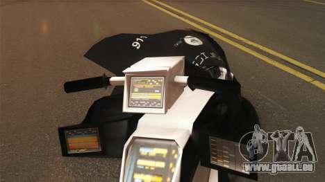 CopBike Alien City pour GTA San Andreas sur la vue arrière gauche