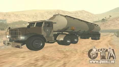 Trailer pour GTA 5 casernes ver. 2 pour GTA San Andreas sur la vue arrière gauche
