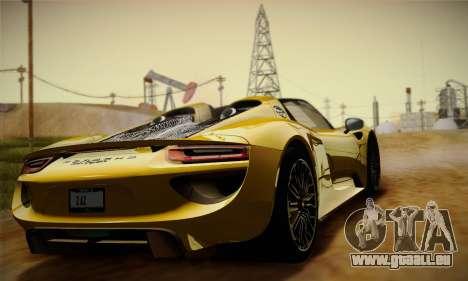 Porsche 918 Spyder 2014 für GTA San Andreas Innenansicht