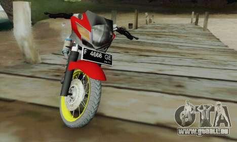 Suzuki Satria FU 150cc 2011 Semi Drag für GTA San Andreas rechten Ansicht