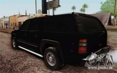 Chevrolet Suburban FBI für GTA San Andreas zurück linke Ansicht