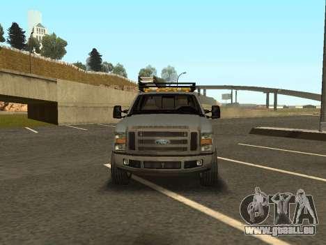 Ford F-350 für GTA San Andreas zurück linke Ansicht
