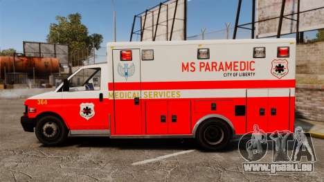 Brute Ambulance FDLC [ELS] für GTA 4 linke Ansicht
