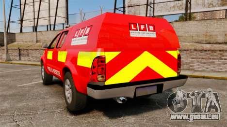 Toyota Hilux London Fire Brigade [ELS] pour GTA 4 Vue arrière de la gauche
