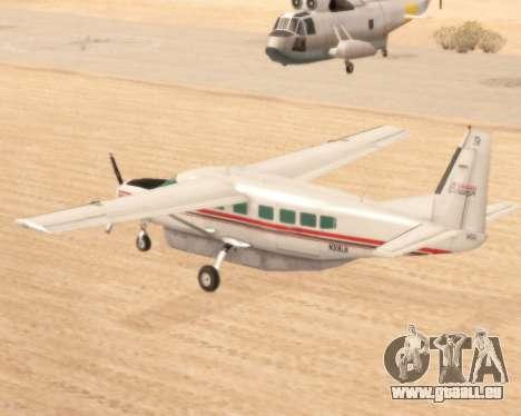 Cessna 208B Grand Caravan pour GTA San Andreas sur la vue arrière gauche