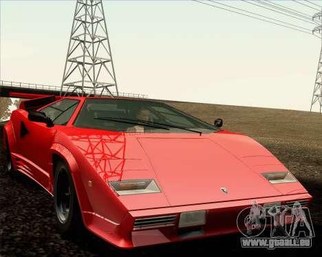 Lamborghini Countach LP500 Quattrovalvole 1988 für GTA San Andreas Unteransicht
