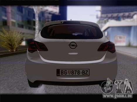Opel Astra J 2011 für GTA San Andreas Innenansicht