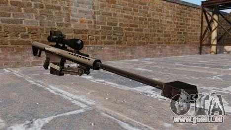 Die Barrett M82 Sniper Gewehr 50 Cal für GTA 4