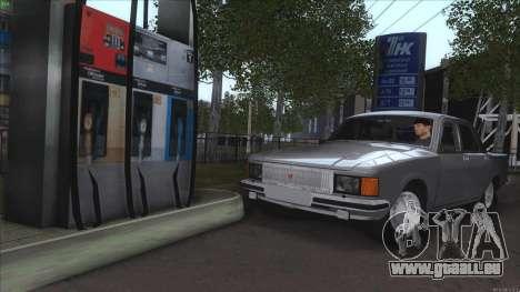 GAZ 3102 Wolga für GTA San Andreas Unteransicht