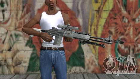 M14 EBR Arctique pour GTA San Andreas troisième écran