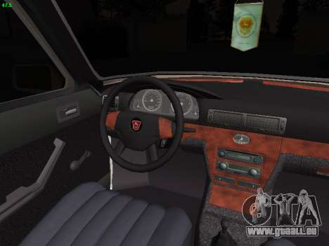 GAZ 3102 Stance pour GTA San Andreas vue intérieure