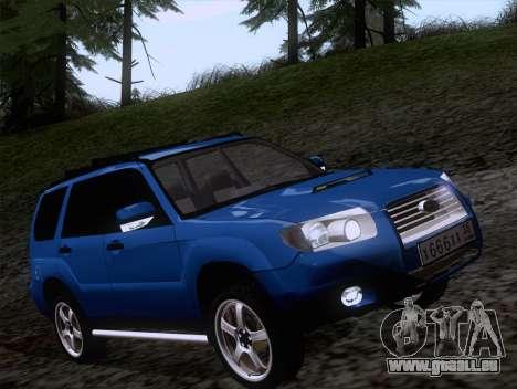 Subaru Forester 2.5XT 2005 pour GTA San Andreas laissé vue