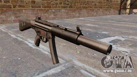 Pistolet mitrailleur HK MP5A5 pour GTA 4