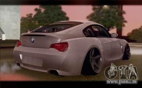 BMW Z4 Stance pour GTA San Andreas laissé vue