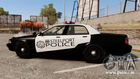 GTA V Vapid Steelport Police Cruiser [ELS] für GTA 4 linke Ansicht