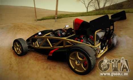 Ariel Atom 500 2012 V8 pour GTA San Andreas vue arrière