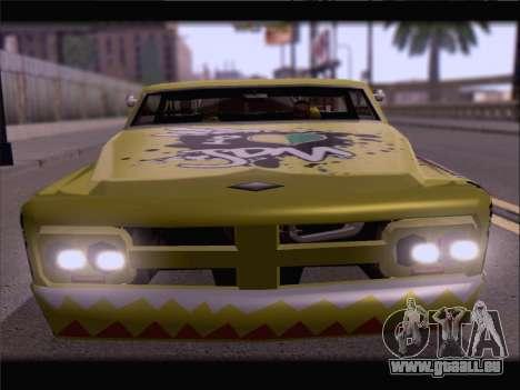 New Slamvan pour GTA San Andreas sur la vue arrière gauche