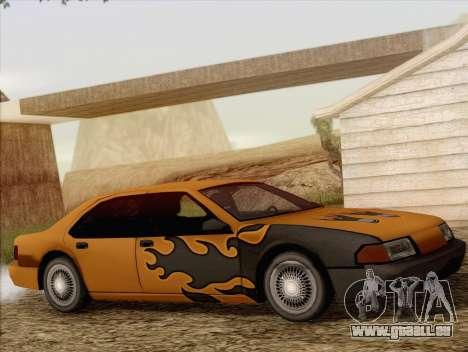 Fortune Sedan pour GTA San Andreas vue intérieure